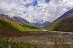 Naturaleza alrededor de un lago secado con alrededores florecidos Himachal Pradesh Foto de archivo