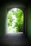 Naturaleza antigua del canal de la salida foto de archivo