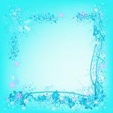 Naturaleza, copos de nieve e hielo congelados stock de ilustración