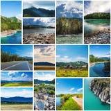 Naturaleza de Altai collage fotografía de archivo