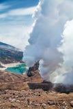 Naturaleza de Kamchatka Paisajes y vistas magníficas del Kam Imagenes de archivo