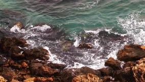 Naturaleza de la agua de mar y concepto hermosos del día de fiesta almacen de video
