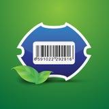 Naturaleza de la escritura de la etiqueta de la etiqueta del código de barras Imagen de archivo libre de regalías