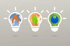 Naturaleza de la lámpara de la energía limpia de la idea del negocio Imágenes de archivo libres de regalías
