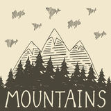 Naturaleza de la montaña Fotos de archivo