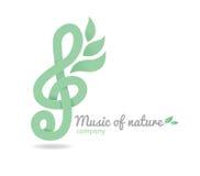 Naturaleza de la música del logotipo Fotos de archivo libres de regalías