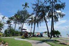 Naturaleza de la playa del centro turístico Foto de archivo