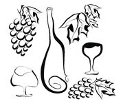 Naturaleza de la uva. Ejemplo del vector. Foto de archivo