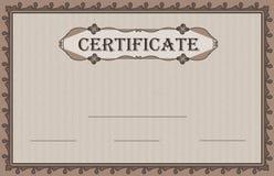 Naturaleza de papel del certificado Foto de archivo libre de regalías