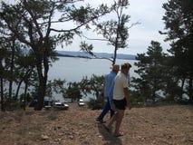 Naturaleza del gran lago Baikal Fotografía de archivo libre de regalías