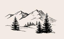 Naturaleza del paisaje de la montaña libre illustration