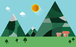 Naturaleza del paisaje, ejemplo plano Fotos de archivo