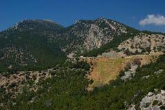 Naturaleza del verano de Rhodos Grecia Imagenes de archivo