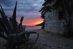 Naturaleza del wacation del mar de la puesta del sol fotografía de archivo