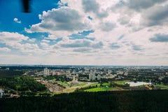 Naturaleza en Bielorrusia Visión desde el helicóptero, Minsk Imagenes de archivo
