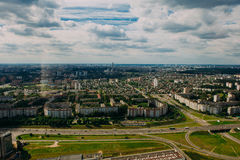 Naturaleza en Bielorrusia Visión desde el helicóptero, Minsk Fotos de archivo libres de regalías
