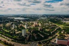 Naturaleza en Bielorrusia Visión desde el helicóptero, Minsk Imagen de archivo
