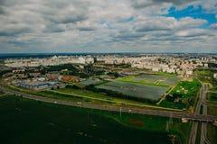 Naturaleza en Bielorrusia Visión desde el helicóptero, Minsk Fotografía de archivo