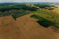 Naturaleza en Bielorrusia Visión desde el helicóptero, Minsk Foto de archivo