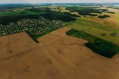 Naturaleza en Bielorrusia Visión desde el helicóptero, Minsk Imagen de archivo libre de regalías