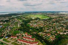 Naturaleza en Bielorrusia Visión desde el helicóptero, Minsk Fotos de archivo