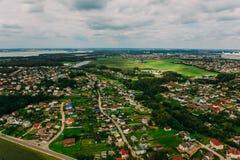 Naturaleza en Bielorrusia Visión desde el helicóptero, Minsk Foto de archivo libre de regalías