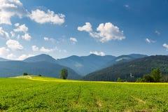 Naturaleza en la región de Liptov, Eslovaquia en el verano 2015 Imagenes de archivo