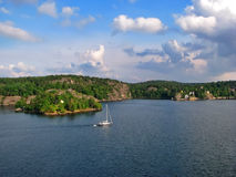 Naturaleza escandinava Foto de archivo libre de regalías