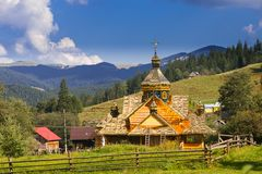 Naturaleza hermosa de las montañas y de la colina en verano Imagen de archivo libre de regalías