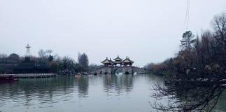 Naturaleza hermosa del lago china antigua Fotos de archivo libres de regalías