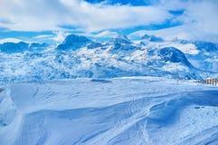 Naturaleza idílica de las montañas septentrionales de la piedra caliza, Dachstein-Krippenstein, Salzkammergut, Austria imágenes de archivo libres de regalías