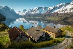 Naturaleza idílica de Noruega fotos de archivo libres de regalías