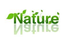 Naturaleza, insignia de la ecología Foto de archivo