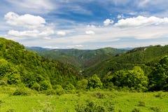 Naturaleza a lo largo de la manera de ciclo de Malino Brdo a Revuce en Slova Foto de archivo libre de regalías