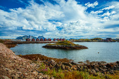 Naturaleza Lofoten en Noruega septentrional Imagen de archivo libre de regalías