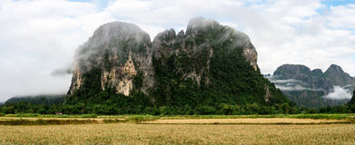 Naturaleza maravillosa en Laos Fotografía de archivo