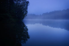 Naturaleza melancólica azul Fotografía de archivo