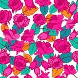 Naturaleza multicolora inconsútil de la primavera del modelo para las materias textiles y empaquetar Fotografía de archivo