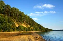 Naturaleza otoñal, el río Volga Fotografía de archivo