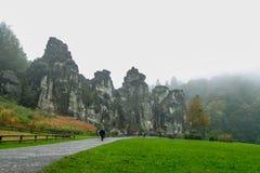 Naturaleza otoño roca 5 de octubre alemán Fotografía de archivo