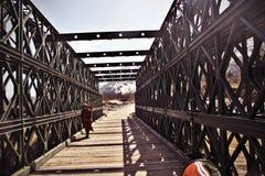 Naturaleza Primavera Puente en Manali imagenes de archivo