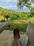 Naturaleza relajada que hace turismo fotografía de archivo libre de regalías