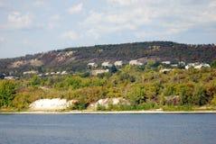 Naturaleza rusa El panorama del río Volga Foto de archivo
