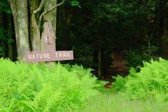 Naturaleza Trailhead Foto de archivo libre de regalías