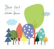 Naturaleza y fondo del bosque para la presentación o tarjeta con c libre illustration
