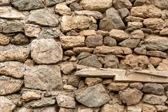 Naturali antichi stonewall Fotografie Stock Libere da Diritti