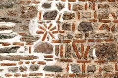 Naturali antichi stonewall Fotografie Stock