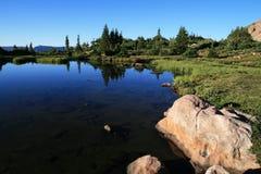 Naturalist basin lake. Lake in Naturalist Basin, uinta mountains, utah Stock Image