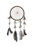 Naturalistic Dreamcatcher  on White Background. Royalty Free Stock Image