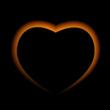 Naturalistic Fire Heart on Dark  Background. Vector Illustration Royalty Free Stock Images